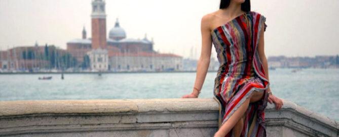 Modella alta moda Venezia